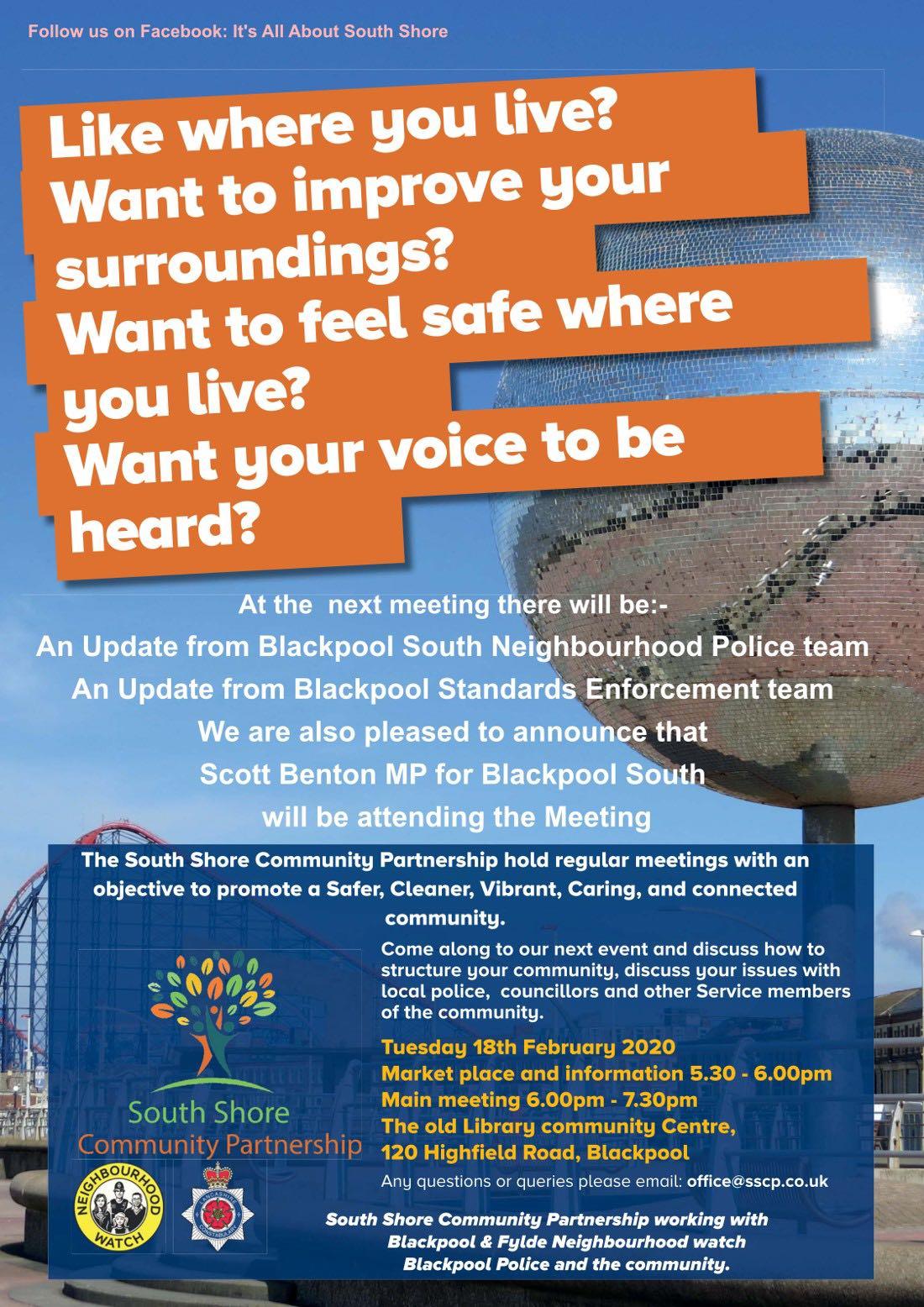 South Shore Community Partnership Meeting